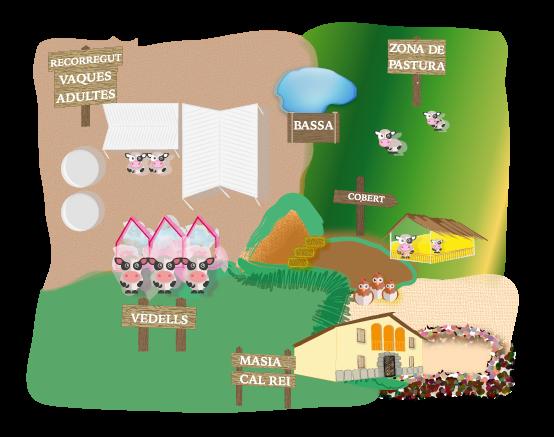 Mapa de la granja cal rei